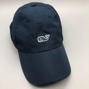 Vineyard vines navy adjustable whale logo hat